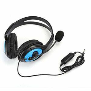 AMONIDA Casque de Jeu de Microphone léger, écouteur de Jeu ABS, équipement de Casque pour PS4