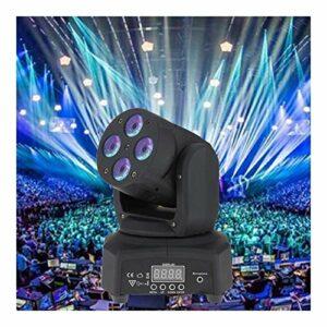 Aocean Mini 4 LED 50W Lavage tête Mobile rotative Effet de scène lumière 14/16 canaux DMX512 activé par Le Son pour la soirée Disco intérieure KTV Club
