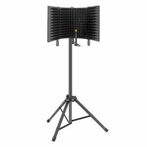 Aokeo Bouclier d'Isolation de Microphone Insonorisanten Mousse Absorbant pour Enregistrement de Microphone à Condensateur en Studio(AO-504 Support d'Accessoires)