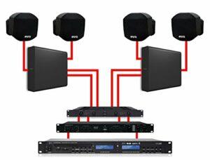 Apart système Audio Mural Noir 2Zones 180W x 2