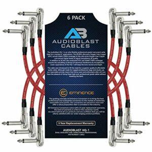 Audioblast – 6 unidades – 6 pulgadas – HQ-1 (rojo) – Ultra flexible – Doble blindado (100%) – Instrument Effects Pedal Pat.