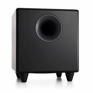 Audioengine S8 250W Subwoofer amplifié | Amplificateur intégré | Entrées RCA et 3,5 mm | Câbles Inclus (Noir)