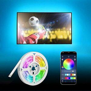 Bandes de télévision à LED, synchronisation de musique Bluetooth, rétroéclairage à LED RVB USB de 5 m, pour chambre, maison, bar, fête, restaurant
