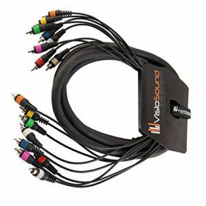 Boucle 8 voies 3m RCA phono à RCA phono/Patch d'effets/Câble multibrins