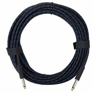 Câble audio universel de corde de Piano de basse d'instrument de guitare électrique de 32 pieds pour des pièces d'instruments de musique(Bleu + Blac)