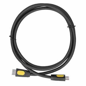 Câble d'interface multimédia HD d'effets visuels 3D 1,5 m, mode théâtre ouvert, résistant à l'usure et durable, câble en PVC résistant à la flexion avec interface multimédia HD 2.0(Noir)