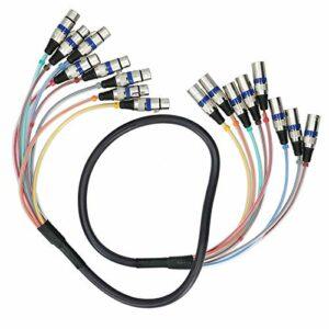 Câble serpent XLR, couvercle de protection en plastique transparent câble serpent 8 canaux, pour haut-parleurs microphones mélangeurs Audio HIFI(blue, 1.5 fans)