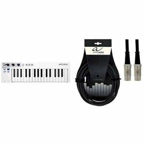 Clavier Midi/séquenceur polyphonique Arturia Keystep 430201-32 touches – Petit format & Alpha Audio 190780 Pro Line Cordon MIDI 3 m Noir