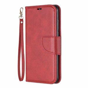 Coque pour Huawei P30 Lite/Nova 4e Coque,Housse en Cuir Flip Case Portefeuille Etui avec Stand Support et Carte Slot pour Huawei P30Lite – EYBF110704 Rouge