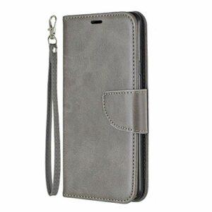Coque pour LG G7 Antichoc étui Rabat Cuir Case Portefeuille TPU Gel Bumper Silicone Wallet Cover Aimant Housse pour LG G7 – ZIBF110824 Gris