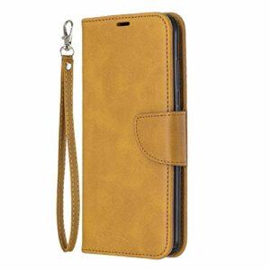 Coque pour Nokia 3.2 Coque,Housse en Cuir Flip Case Portefeuille Etui avec Stand Support et Carte Slot pour Nokia3.2 – EYBF110986 Jaune