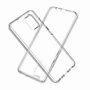 Coque transparente anti-chocs 2 en 1 pour Samsung Galaxy A51 – Double couche 360 degrés – Protection complète hybride robuste – Coque arrière rigide en silicone pour Samsung Galaxy A51