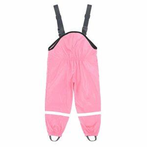Dasongff Salopette de pluie unisexe pour enfant – Coupe-vent et imperméable – Pantalon de pluie pour vélo et sport