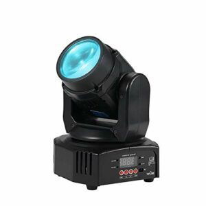 Disco Lumiere AC 100-240V 25W LED Contrôle du Son De L'étage De Faisceau De LED Activé / DMX512 / Auto Run pour Disco Club Party (Couleur : Black, Size : UK)
