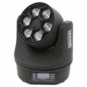 Éclairage de Scène 100W RGBW LED Éclairage Éclairage Bee Moving Head Lights Son Activé Spotlight Éclairage de Scène pour DJ (Couleur : Black, Size : UK)