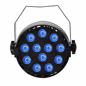 Éclairage de Scène 3 sur 1 18W RGBW LED Stage par Light DMX512 Sound Activé Auto-Run Run Éclairage de Scène pour DJ (Couleur : Black, Size : AU Plug)