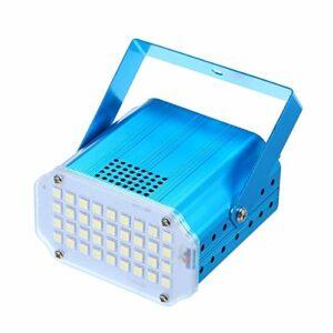 Éclairage de Scène AC110-240V 10W 36 LEDs LED Strobe Light Auto-exécutant/Sound Vitesse Activée Réglable Éclairage de Scène pour DJ (Couleur : Bleu, Size : EU Plug)