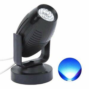 Éclairage de Scène LED Stage Light Mini Spot Light Light Light Secteur De La Lumière KTV Flash Scan Light Éclairage de Scène pour DJ (Couleur : Black, Size : Bleu)