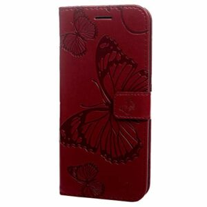Étui Portefeuille en Cuir pour Sony Xperia L3 avec Support pour Cartes et Support pour Sony Xperia L3 Bleu Marine Red