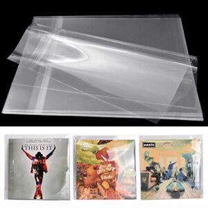 Facmogu Lot de 100 pochettes de protection en plastique transparent pour disques vinyles 32,5 x 32,8 cm