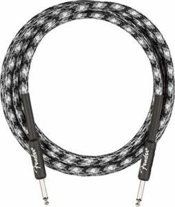 Fender® Câble d'instrument professionnel série « Winter Camo » – Jack droit – 3 m