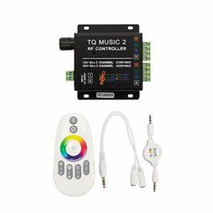 Haude LED RVB ContrrLeur de Musique Bande de LumièRe LED Manette pour la Sensibilité RF RéTro-éClairage RF Couleur D'Impression une Distance