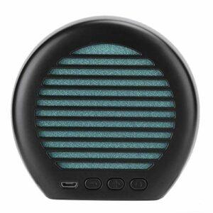 Haut-Parleur Portable Bluetooth Mini Stereo LED Conférencier en Haut-Parleur de Voyage en extérieur pour Smartphone, Tablette PC – BT5.0 / 10M Distance de Transmission / 1200mAh Batterie (Noir)