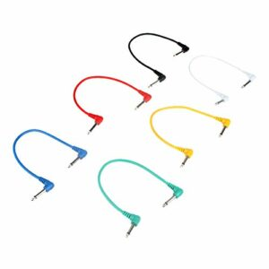 Hellery 6pc 12″Angle Plug Câble Audio Mène Des Câbles pour Effet de Guitare électrique