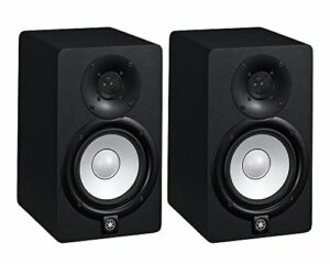 HS7K Paire de moniteurs Near Field bi-amplifiés avec système Bass Reflex 2 voies, woofer 6,5″ 95 W (Noir)
