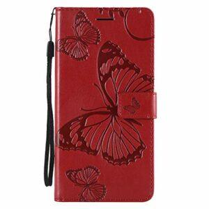 Jeewi Coque pour Huawei [Mate 20 Lite] Protection Housse en Cuir PU Pochette,[Emplacements Cartes][Fonction Support][Fermeture magnétique] pour Huawei Mate 20Lite – JEKT040961 Rouge