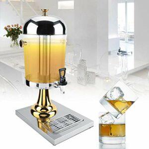 Jus Ding Facile à nettoyer Machine à jus Machine à boisson chaude et froide Conservateur de fabrication standard pour hôtel(Single head silver)