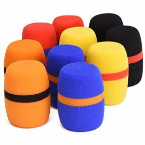 Lot de 10 housses de protection épaisses pour pare-brise pour KTV, balle, salle de conférence, entretiens de journaux, performance de scène (5 couleurs)