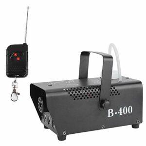 Machine à fumée LED, mini télécommande avec 3 puces lumineuses 3 en 1 couleur rouge, verte et bleue Machine à fumée LED durable, pour les bars, les scènes de danse, les mariages