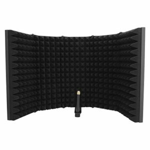 Microphone Isolation Shield, Microphone Sound Filter 5 Layers, Sound Absorbing Plate, Material High‑Quality Plastic Sound Absorbing, Simple Design, Portable and Foldable, Noise Reduction