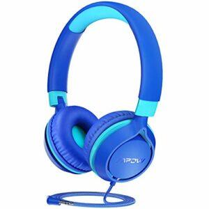 MPOW CHE1 Casque filaire pour enfants adolescents 94 dB Limite de volume, pliable et réglable pour l'école, les voyages, l'avion, pour téléphones portables, tablettes, PC
