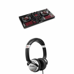 Numark Mixtrack Platinum FX & HF125 – Contrôleur DJ pour Serato DJ avec 4 Decks, Table de Mixage DJ, Interface Audio Intégrée & Casque Professionnel pour DJ Ultra-Portable avec Câble de 1,8 m