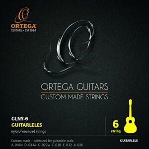 ORTEGA Cordes Guitarlélé – Diapason 420-440 mm 6 pièces (GLNY-6)