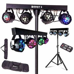 Pack DJ Light 120 LED Portique + 2 PAR RGBW + 2 PAR ASTRO DMX 18 prog + 2 sacoches + Télec PA SONO DJ BAR CLUB DISCO FIESTA