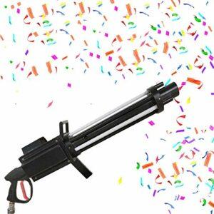 Papier de Pulvérisation DMX 512 Machines à Confettis Portable avec Effets de Lumière LED pour les Concerts de Mariage de Fête Événements Spéciaux Effet de Scène Confetti Shot Shooter Saluer
