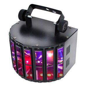 Pyle Lampe de scène rotative – pour Spectacles de DJ Professionnels ou fête de Danse avec Ampoule LED RVB, Stroboscope Clignotant Disco, Effet de Mouvement et contrôle DMX