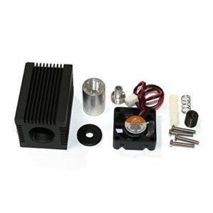 Q-BAIHE Laser Module Boîtier pour 5,6mm To-18LD 33x 33x 50mm avec Violet/Bleu lentille Laser et Aluminium supplémentaire