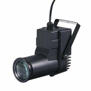 QuRRong Lampe disco RGB avec télécommande 16 couleurs changeantes / luminosité réglable pour disco Club Party (Couleur : noir, Taille UE)
