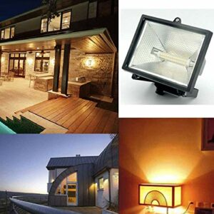 R7S COB 110V Lampe à Plug-in Horizontale Lampe de lumière 78mm / 118mm Lampe à Double extrémité pour remplacer la Lampe à halogénure métallique (dimmable, 2pcs),Warm White,118MM~10w