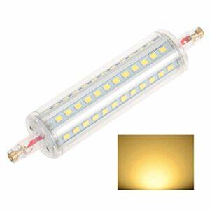 R7S LED Lampe à Plug-in Horizontal Tube à Double extrémité 220V 78mm Tube de lumière de Crampon Blanc Chaud au Lieu d'halogène Tungstène à Double extrémité en métal,6W