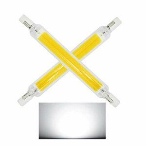 R7S LED Light Bulbs 220V 118mm / 78mm Réflecteur linéaire R7S LED Ampoule halogène Ampoule Ultra-Mince Spot de lumière pour Plafond et projecteurs (2 pièces dimmables),Cool White,118MM~20w