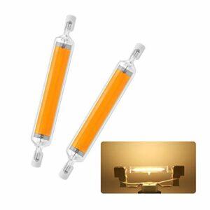 RHAD R7S Dimmable Tube de Verre Tube de Verre de Verre à LED 118mm 220V au Lieu de la Lampe de tungstène d'iode Lampe Horizontale PROVRAMMENTALE DE PROSUS DE PRODUCLIGHT (2 PCS),Warm White,118MM~15w