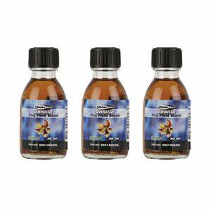 Showtec Lot de 3 flacons de liquide de brouillard Parfum vanille pour machine à fumée