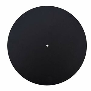 Slipmat Slip, disque de disque vinyle en cuir véritable anti-déformation antidérapant de qualité sonore(Thickness 1.5MM)