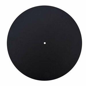 Slipmat Slip, disque vinyle, qualité sonore sans déformation en cuir Slipmat Slip Mat Pad feutre antistatique pour la maison(Thickness 1.5MM)