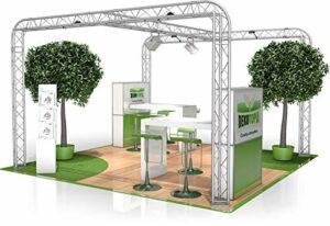 Stand de Foire FD 23-4 x 4 x 2,5 m (LxHxH) – 16 m²